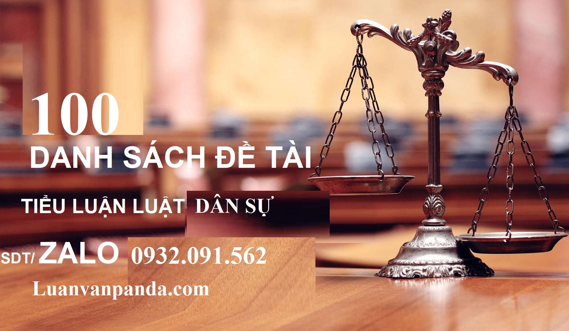 báo cáo thực tập tiểu luận cuối khóa Luật Dân sự