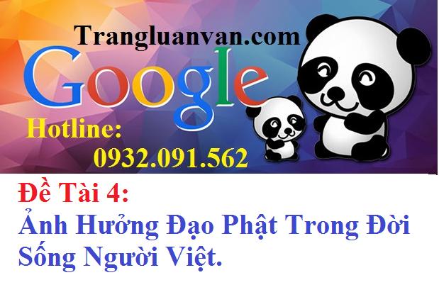 Đề Tài 4: Ảnh Hưởng Đạo Phật Trong Đời Sống Người Việt