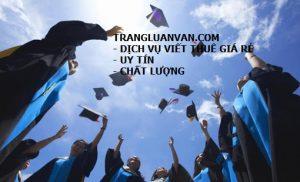 Dịch vụ viết thuê luận văn tốt nghiệp ngành thương mại